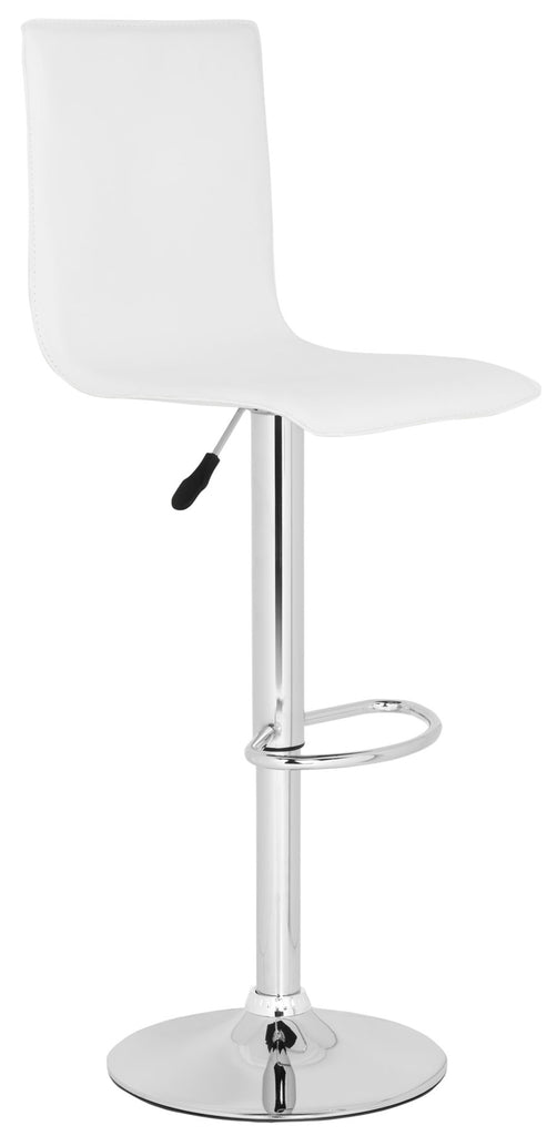 Magda Swivel Bar Stool  White Side View
