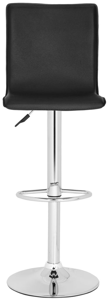 Magda Swivel Bar Stool Black Front View