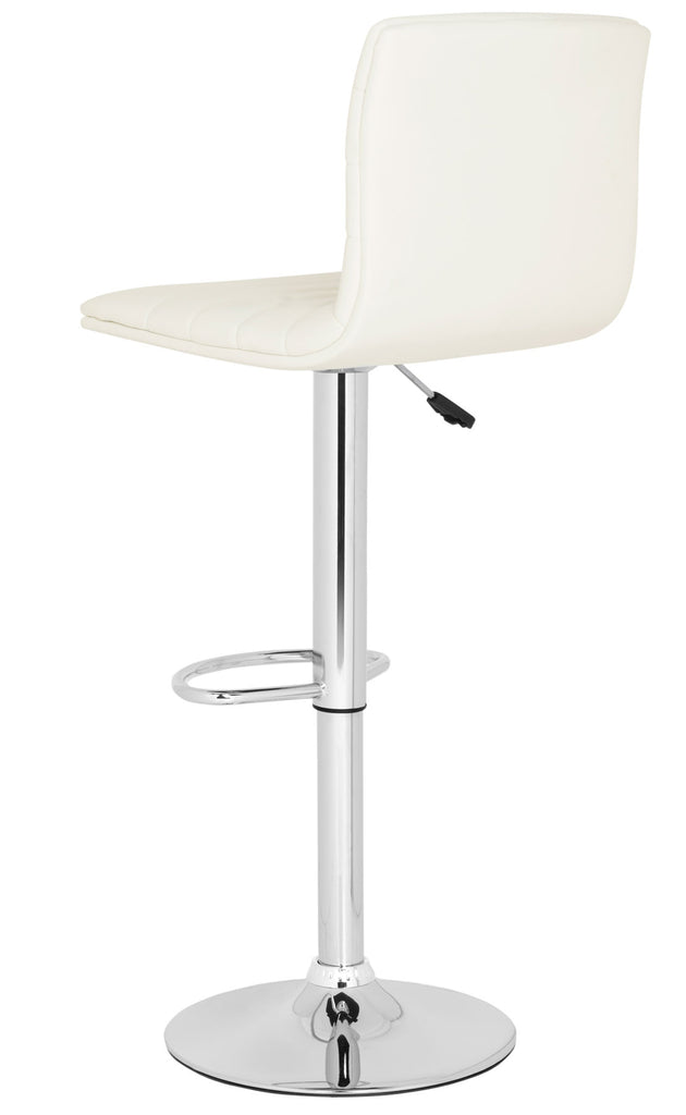 Arissa Swivel Bar Stool  White Back View