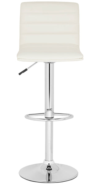Arissa Swivel Bar Stool  White Front View