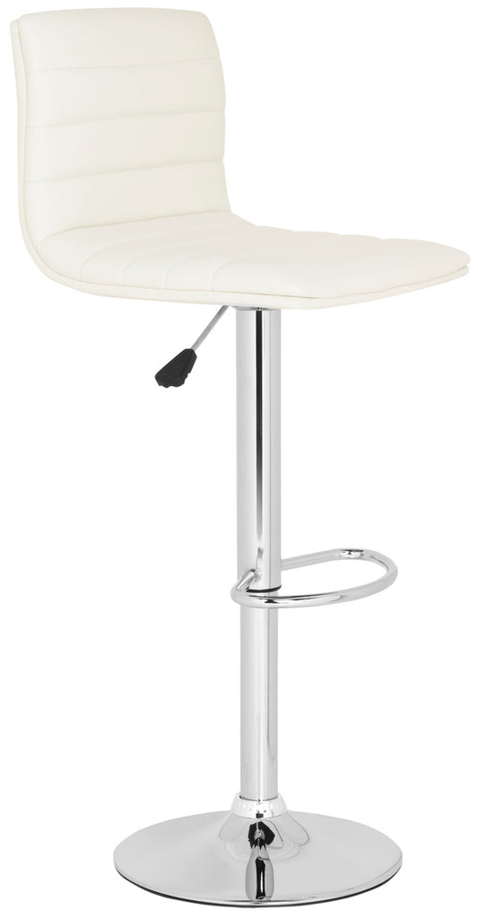 Arissa Swivel Bar Stool  White Side View