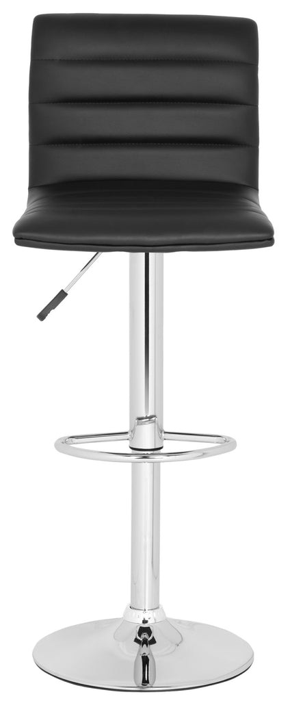 Arissa Swivel Bar Stool  Black Front View