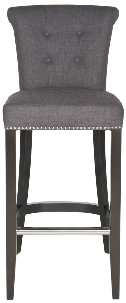 Addo Ring Bar Stool Charcoal Front View