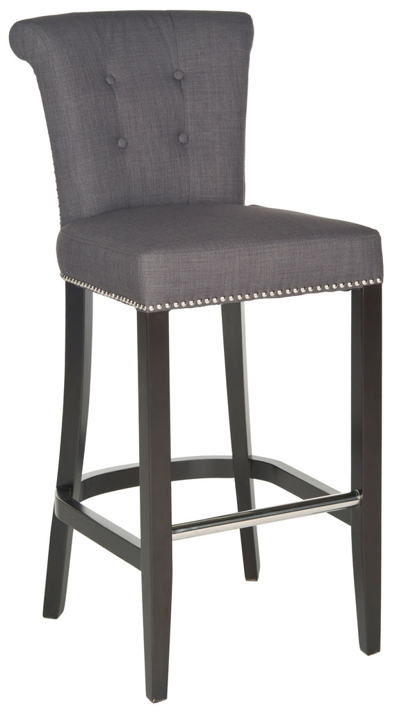 Addo Ring Bar Stool Charcoal Front Corner View