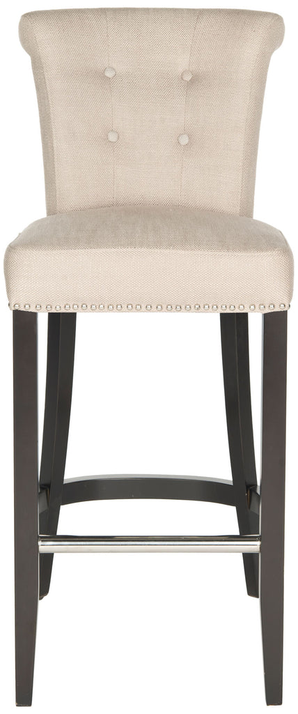 Addo Ring Bar Stool Biscuit Beige Front View