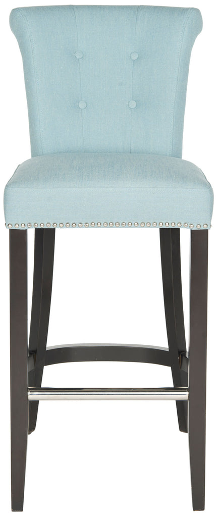 Addo Ring Bar Stool Sky Blue Front View
