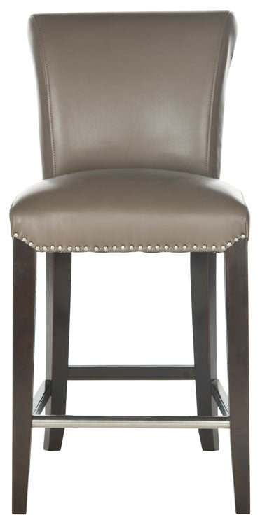 Safavieh Seth Counter Stool - Available in Black, Taupe, Black Crocodile, Clay, Antique Brown or Sky Blue