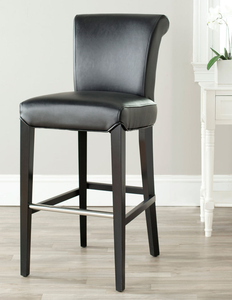 Safavieh Seth Bar Stool - Available in Black, Brown, Clay, Antique Brown or Sky Blue