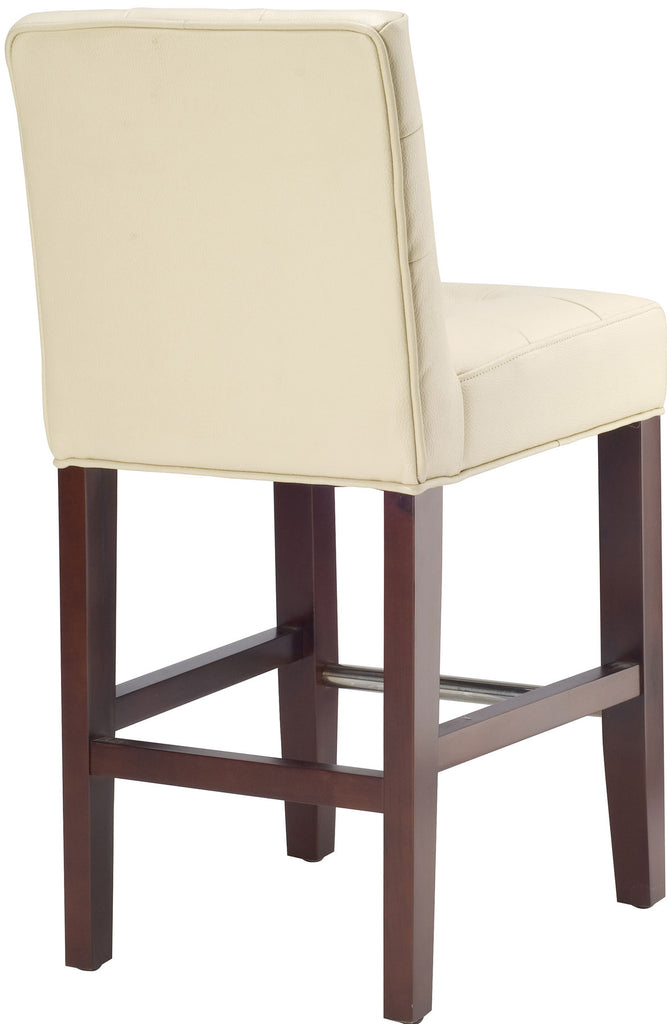 Thompson Leather Counter Stool Back View