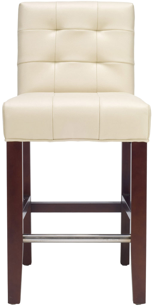 Thompson Leather Counter Stool Cream Front View