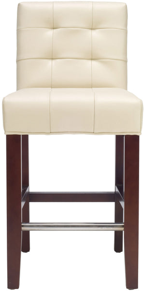 Safavieh Thompson Leather Counter Stool - Available in Cream, Taupe, Sea Mist, Clay, Antique Brown or Sky Blue