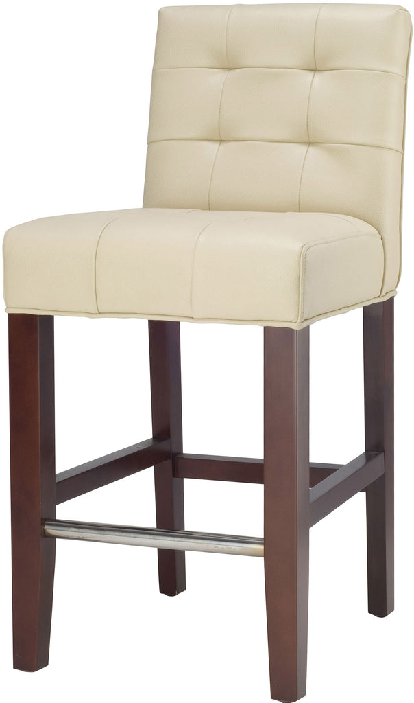 Thompson Leather Counter Stool Front Corner View