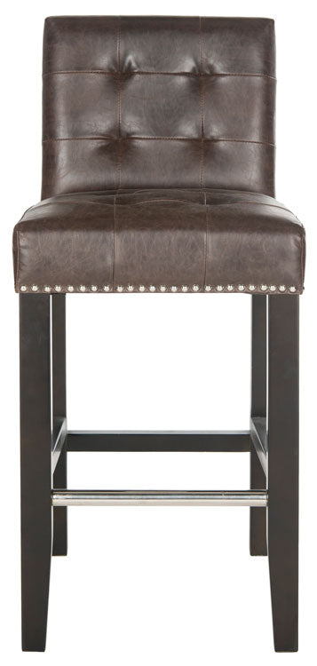 Thompson Leather Counter Stool Front View