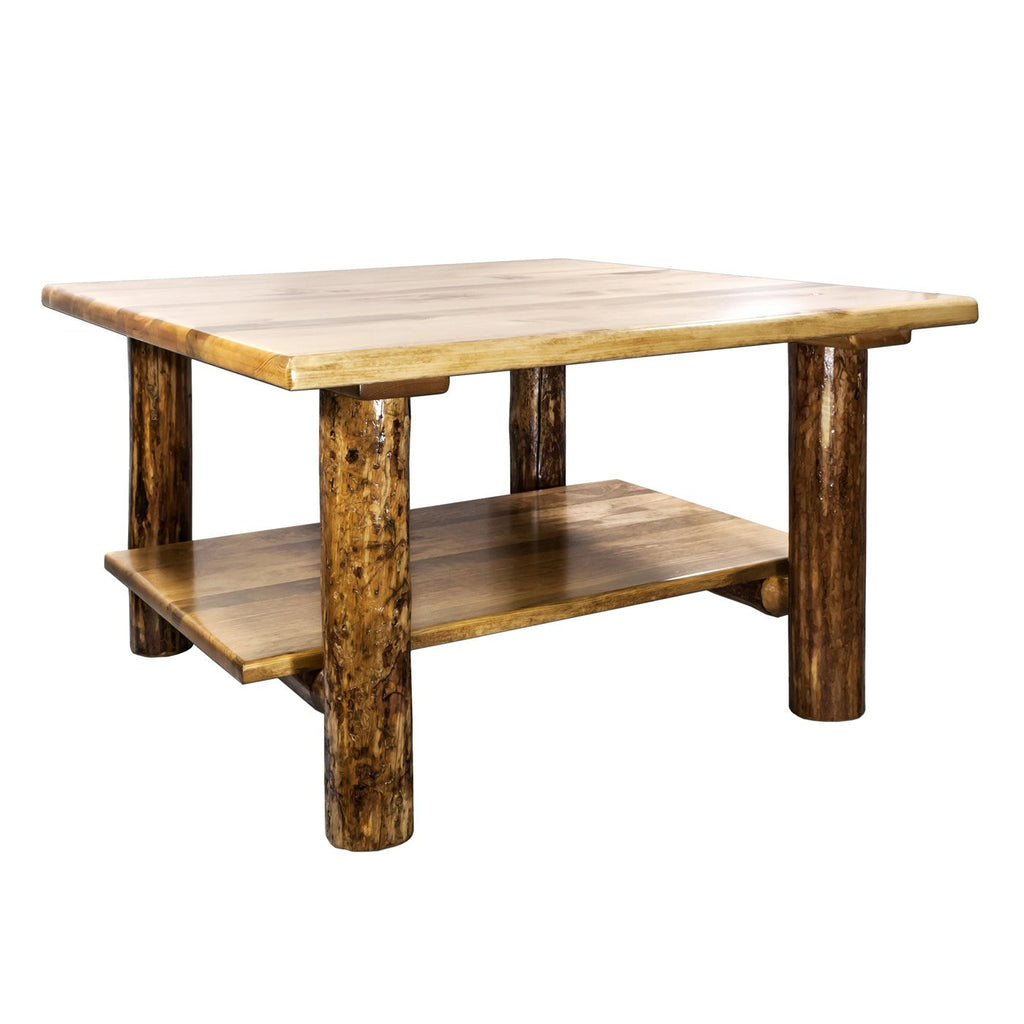 Montana Woodworks Collection Cocktail Table w/ Shelf - Perfect Home Bars