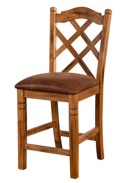 "Sunny Designs Sedona 24"" Double Cross-back Bar Stool"
