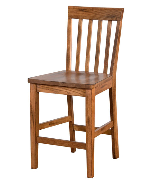 "Sunny Designs Sedona Slat-back Bar Stool - 24"" Seat Height"