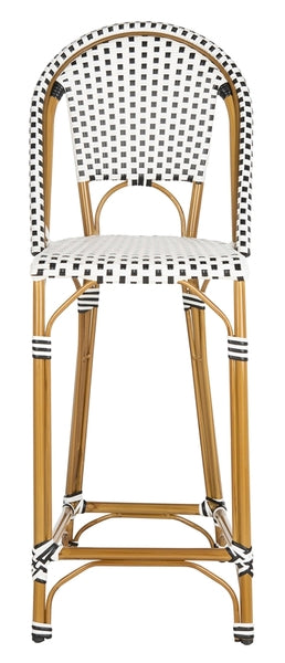 Safavieh Zaid Stackable Bar Stool Front View