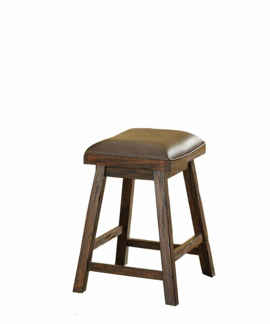 "Gettysburg 24"" Saddle Stool, Set of 2 Front View"