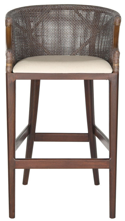 Safavieh Brando Bar Stool - Avaialble in Dark Brown or Brown Cushion