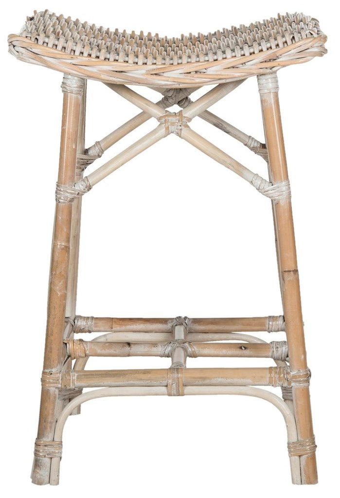 Rayna Wicker Bar Stool Front View