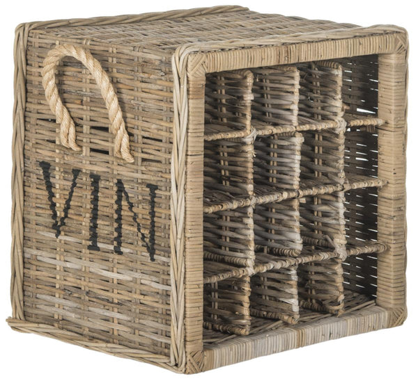 Safavieh Aziza 16 Bottle Wicker Wine Rack