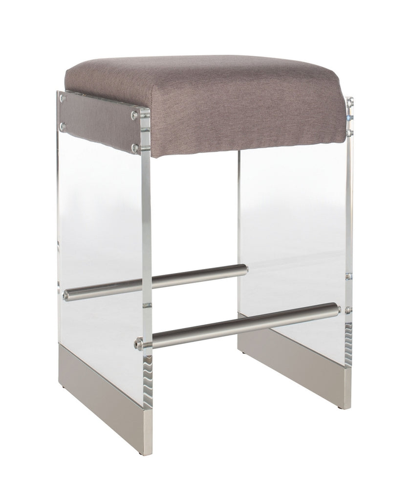 Safavieh Piper Acrylic Counter Stool Side View