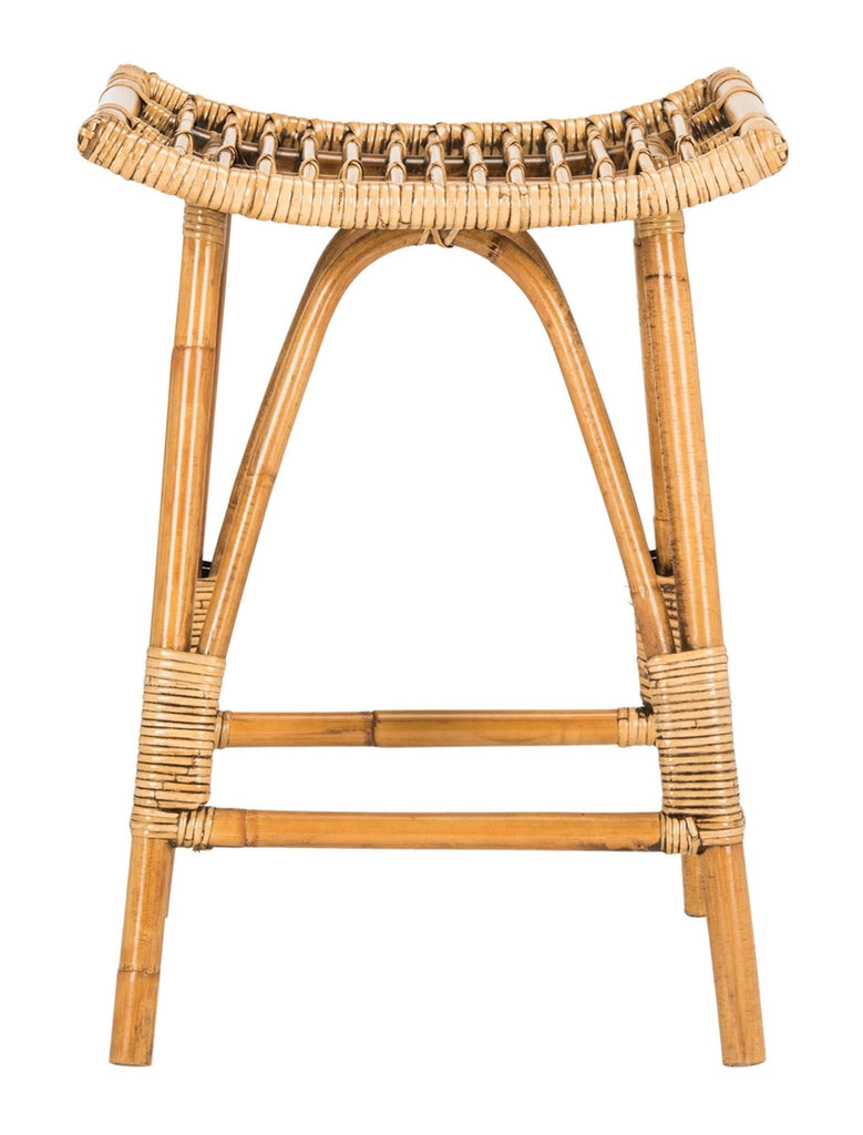 Safavieh Leda Rattan Counter Stool - Available in Honey Brown or Gray White Wash