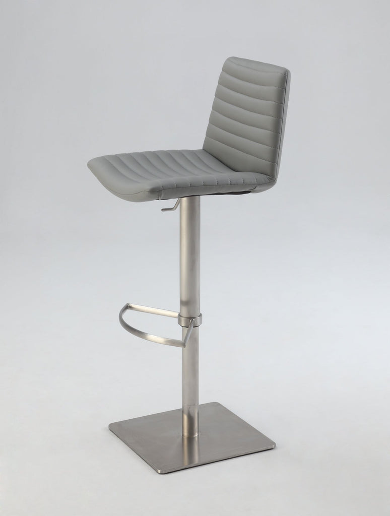 Chintaly Imports Ribbed Back and Seat Pneumatic Stool
