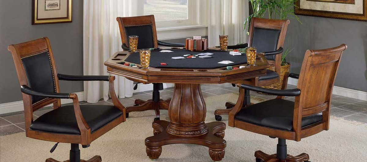 Hillsdale Furniture Nassau 5-Piece Game Set w/Leather Back Game Chair