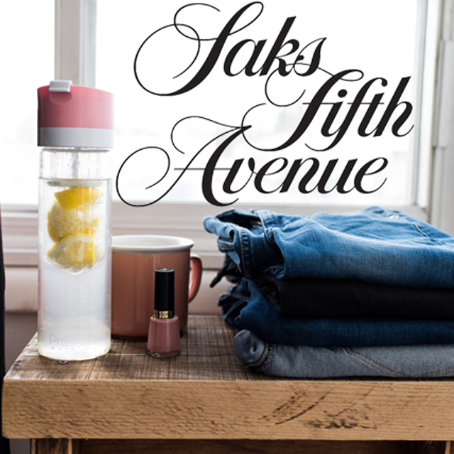 Saks Fifth Avenue and Pressa Bottle team up to make delicious detox water in style