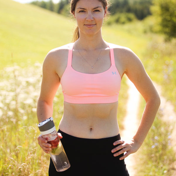 Drinking water while you exercise is important and pressed water can help.