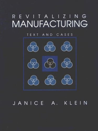 Revitalizing Manufacturing: Text and Cases