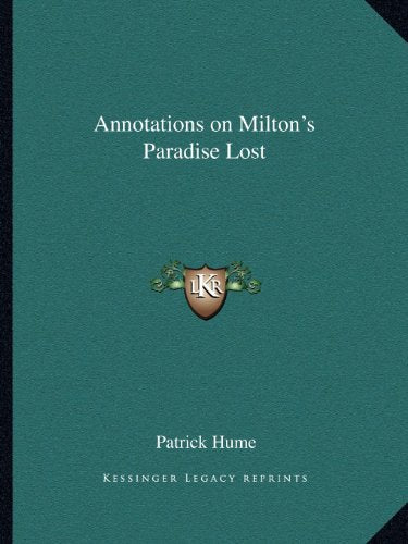 Annotations on Milton's Paradise Lost