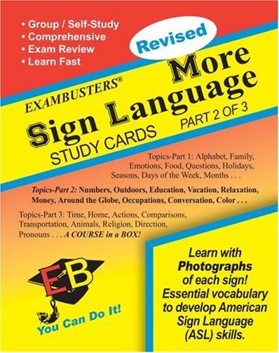 Ace's More Sign Language (2 of 3) Exambusters Study Cards (Ace's Exambusters)