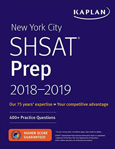 New York City SHSAT Prep 2018-2019 (Kaplan Test Prep)