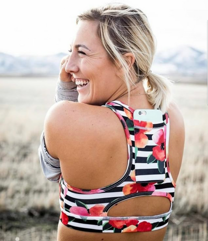 Sports bra and phone tote? Yes please. Details on the Best Day Ever blog.