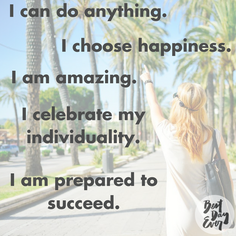 Mantra inspiration on the Best Day Ever blog.