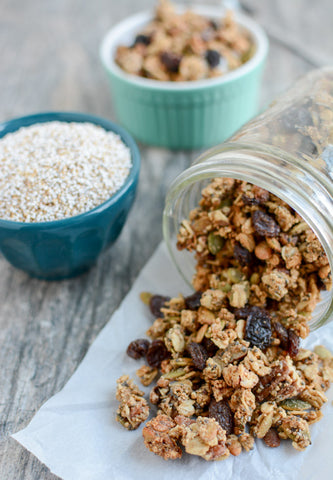 Ancient grain granola recipe on the Best Day Ever blog.