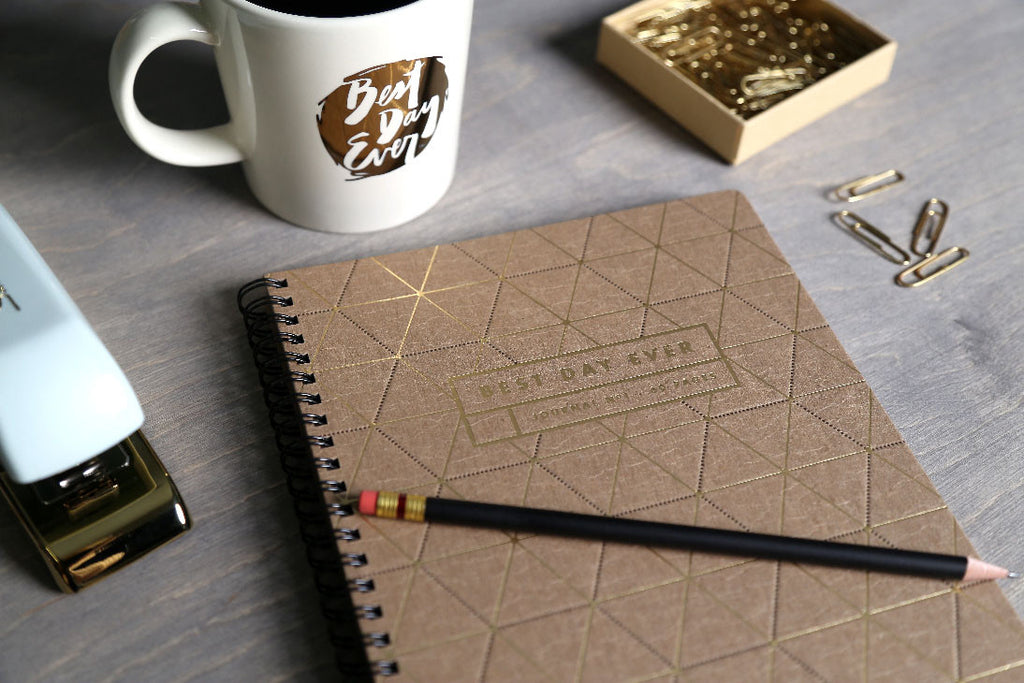 Letterpress Notebook With Triangles