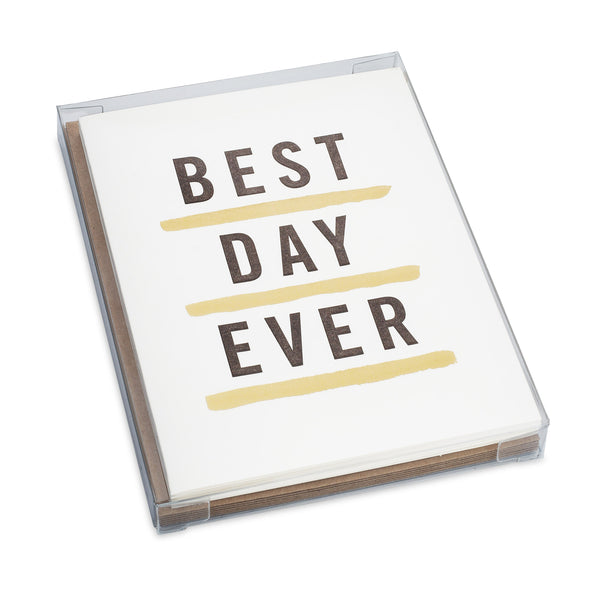 Letterpress Best Day Ever Card Set
