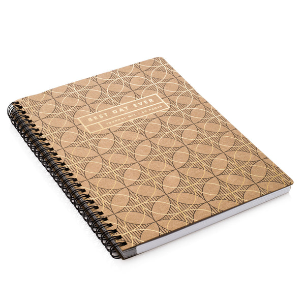 Letterpress Notebook with Circles
