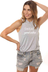 Sweat + Good Vibes Muscle Tank