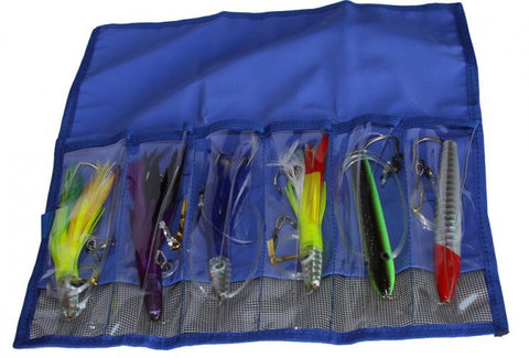 Tailchaser - 6 Pocket Lure and Jig Wrap - Blue