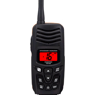 Standard Horizon - HX-150 Handheld, Floating, VHF Radio - PRO Kayak Fishing