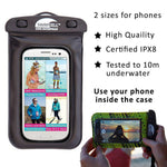 SwimCell - 100% WATERPROOF PHONE CASE, size small