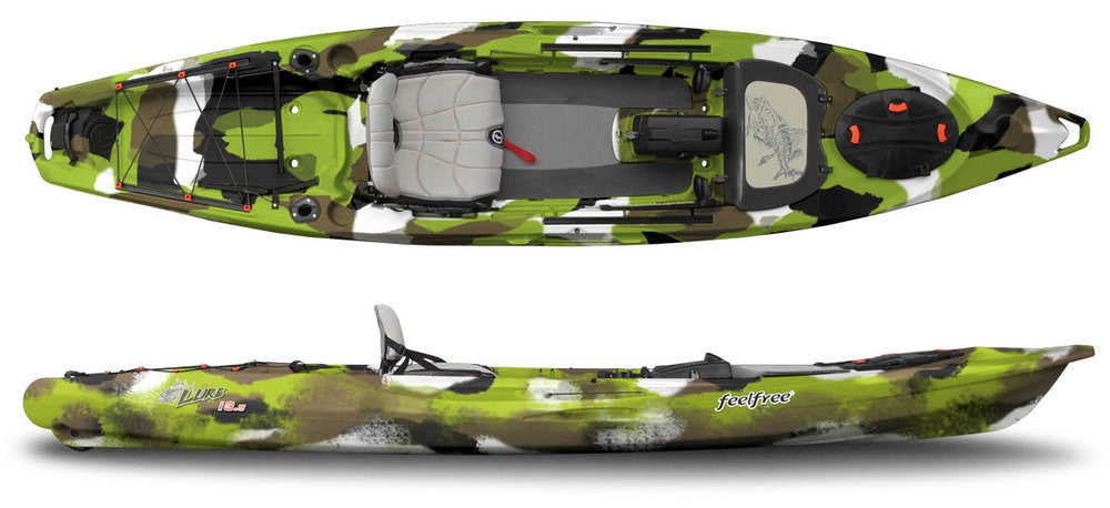 Feelfree kayaks lure 13 5 pro kayak fishing central for Feelfree lure 11 5 with trolling motor
