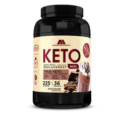 American Metabolix Keto Meal Replacement Shake with powder butter, Chocolate | Low Carb, High Fat Keto Shake | Promotes Weight Loss & Suppresses Appetite | 36 Servings