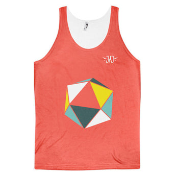 Poly Red Classic fit tank top (unisex) - justjetz.com - 2