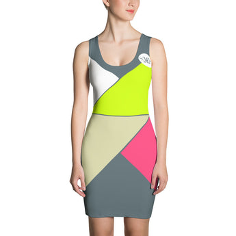 Neon Nights Fitted Dress
