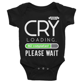 Cry Loading Infant short sleeve one-piece